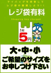 レジ袋有料_アオキノコ